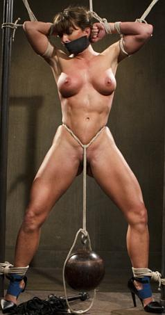 Muscle bound woman nude